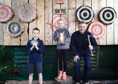 ACE Target Sports Axe Throwing Happy Clients